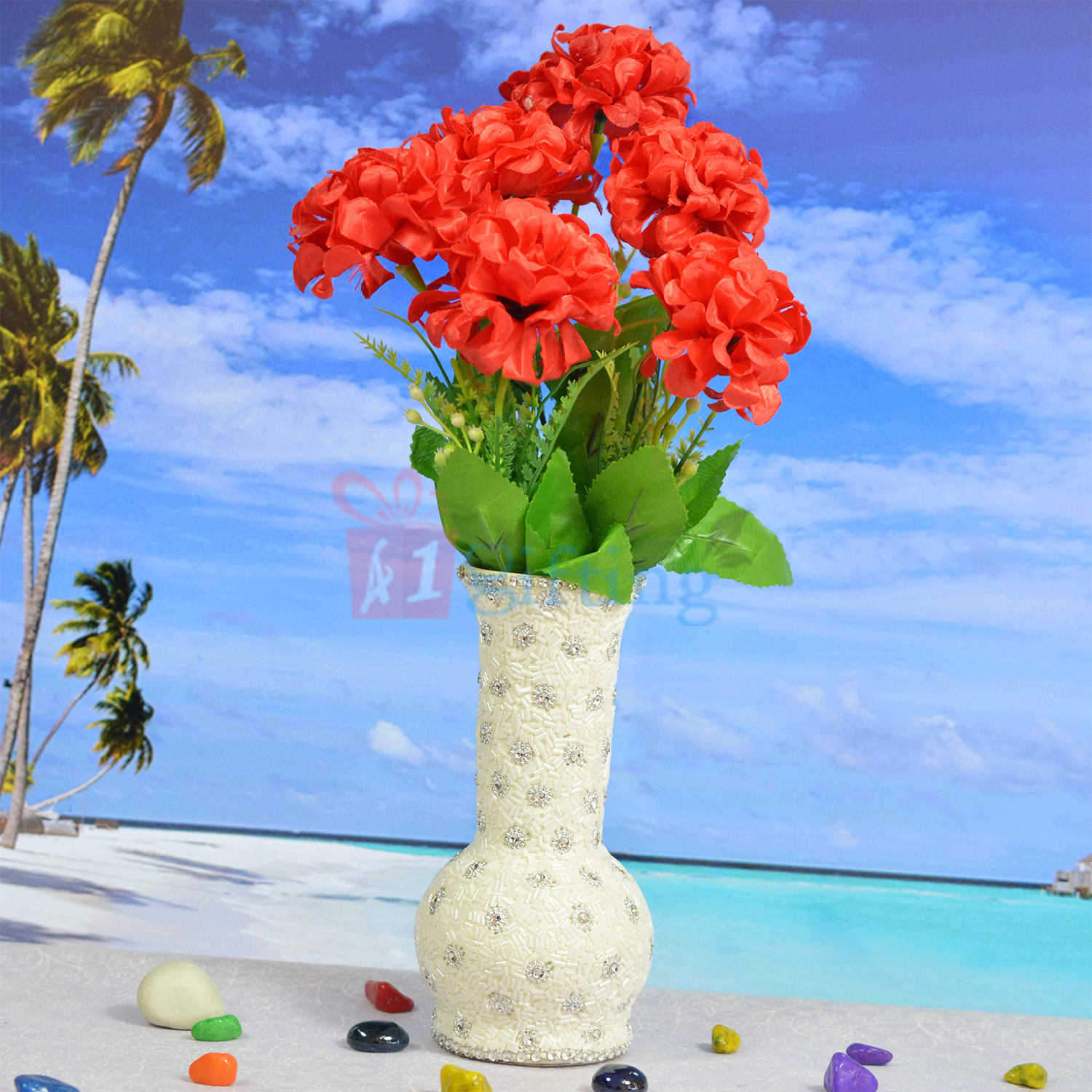 Decorative Flower Pot with Beautiful Flowers