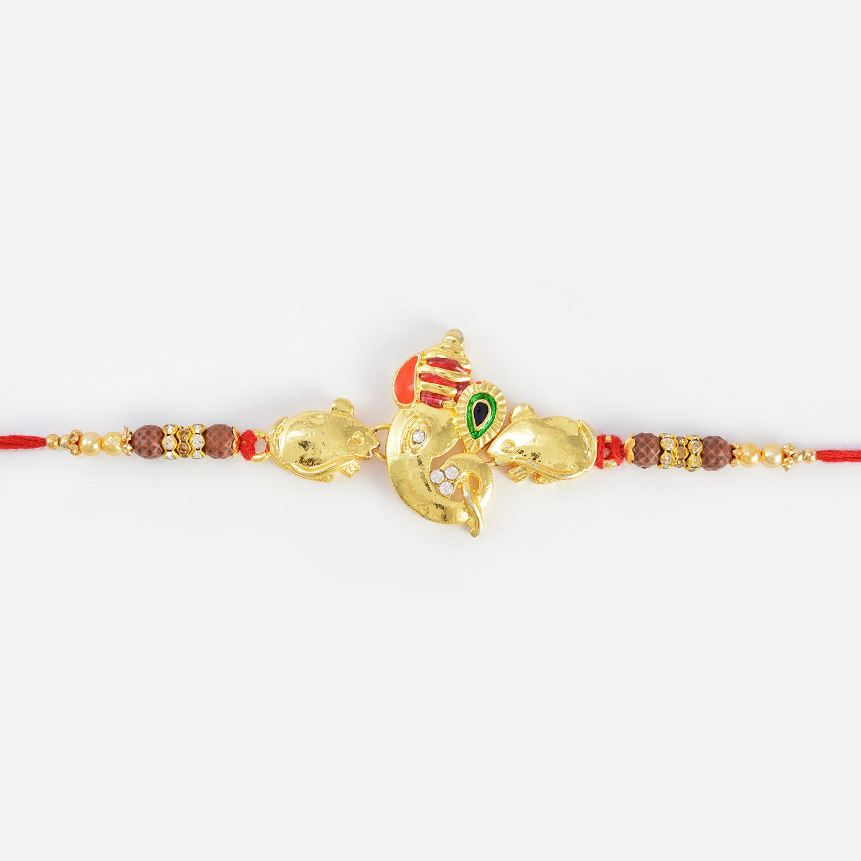 Amazing Ganesha Rakhi with Small Musika