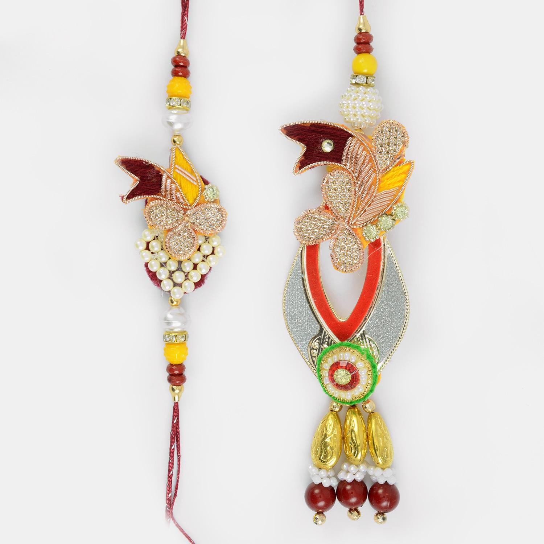 Pair of Royal Love Bhaiya Bhabhi ki Rakhi