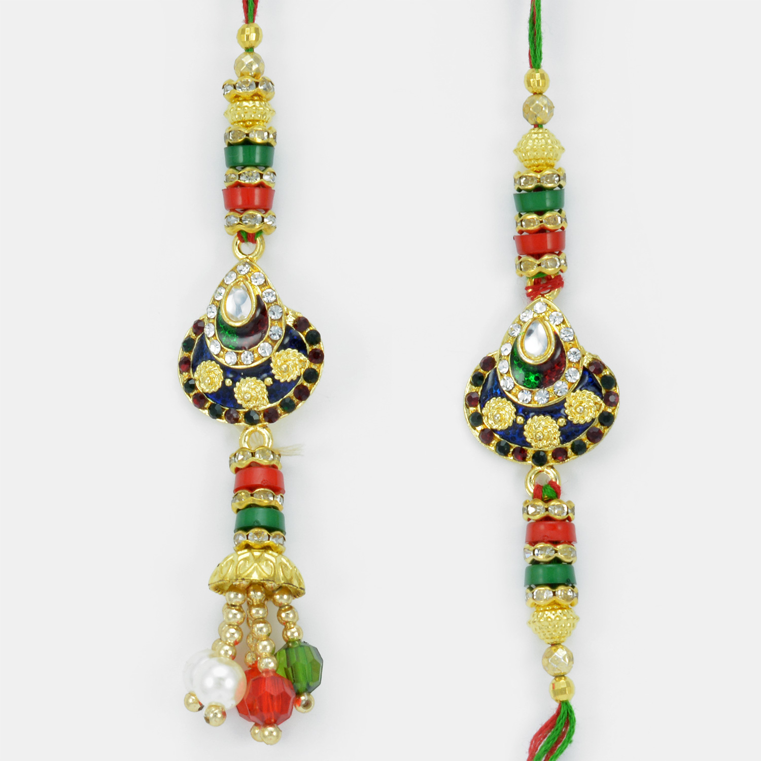 Kundan Meena Awesome Work Pair Bhaiya Bhabhi Rakhi