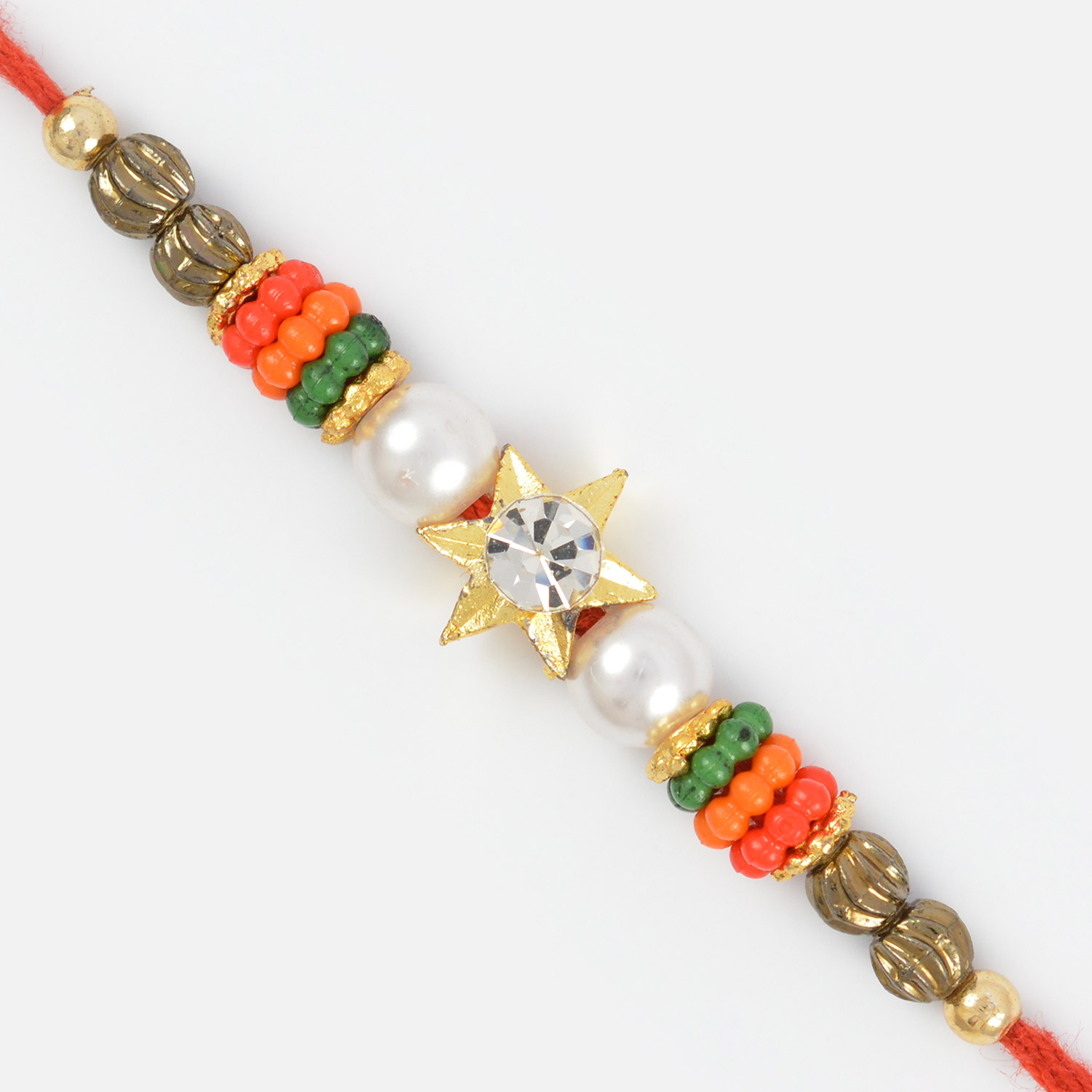 Central Star Special Rakhi for Brother with Pearl and Beads