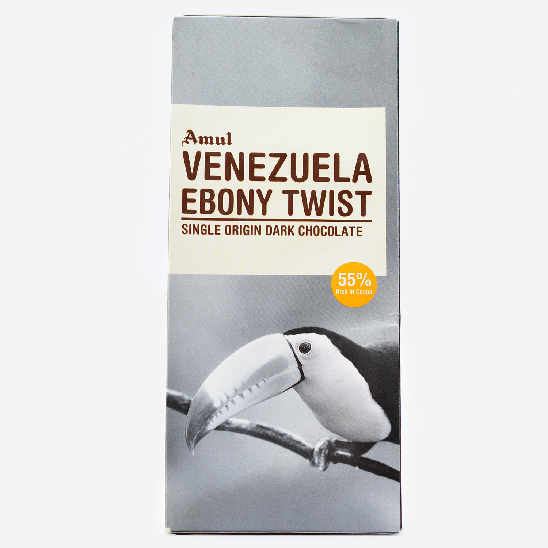 Authentic Venezuela Ebony Twist Amul Dark Chocolate