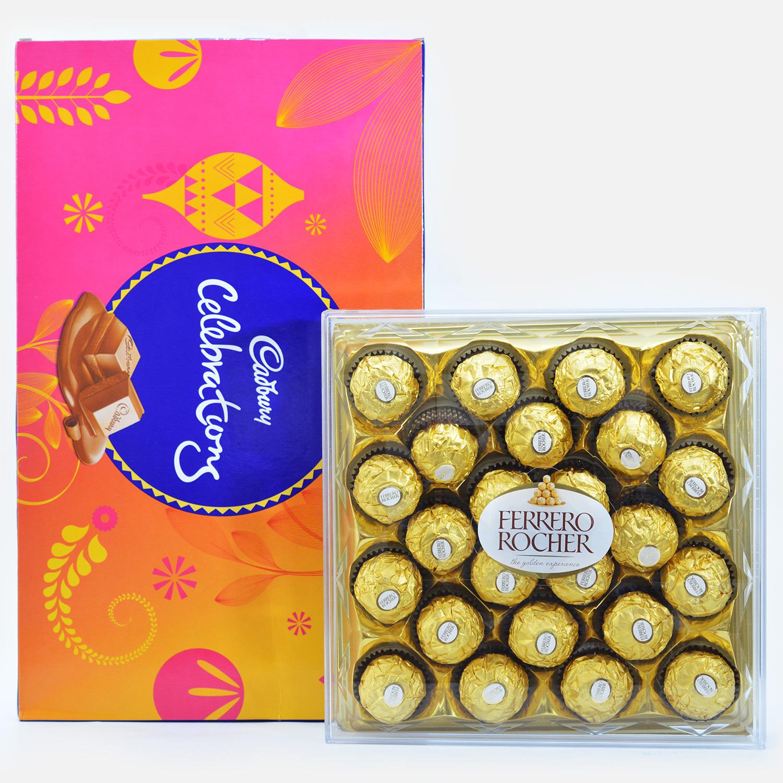 Combo of Cadbury Celebration and 24 Pcs Ferrero Rocker Chocolates