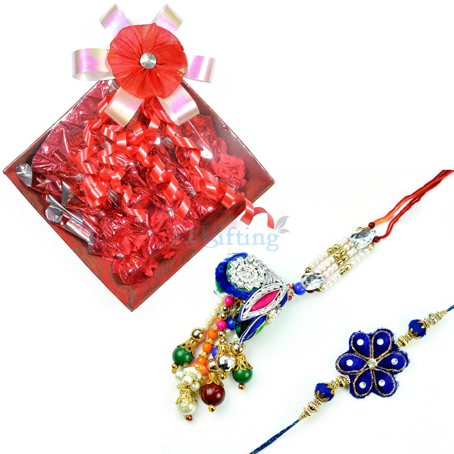 Gorgeous Pair Rakhi with Chocolate Gift