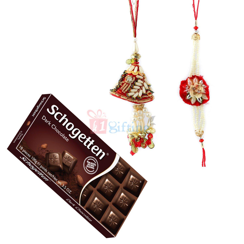 Amazing Pair Rakhi with Chocolate Gift