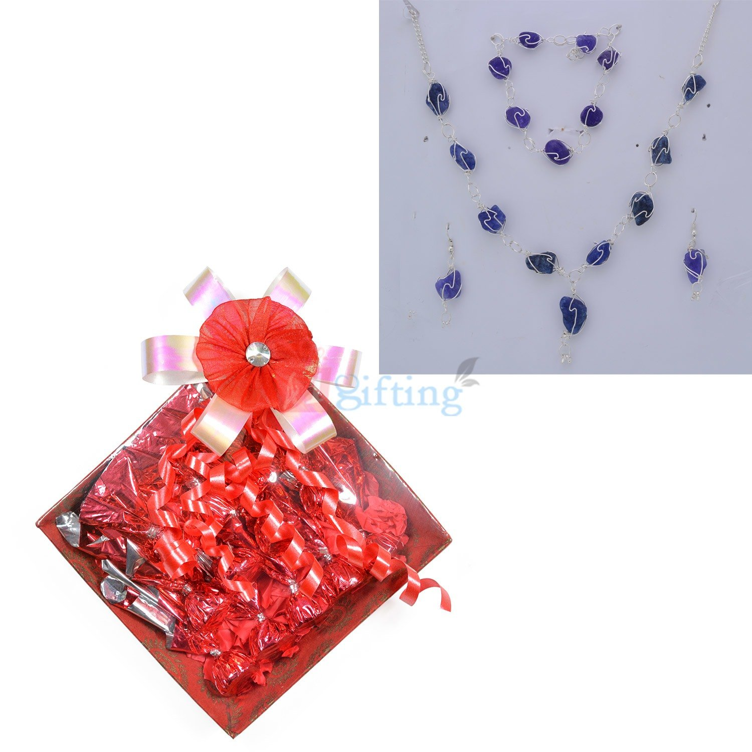 Stone Jewellery with Chocolate Pack Gift