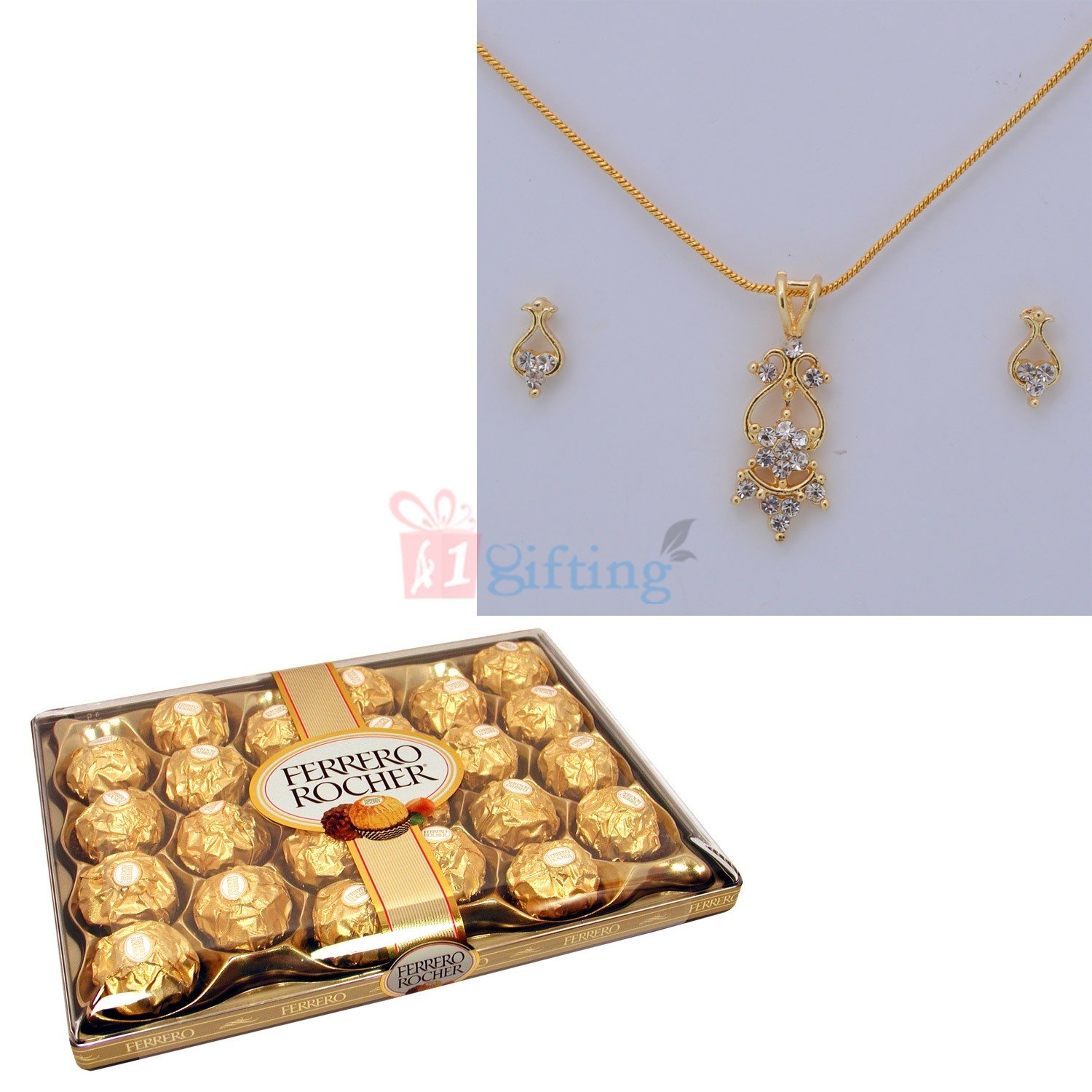 Golden Diamond Jewellery with Ferrero Rocher 24 Chocolates