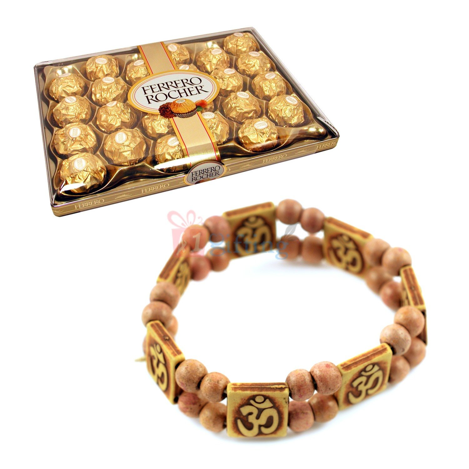 Om Bracelet with Ferrero Rocher 24 Pcs Chocolates