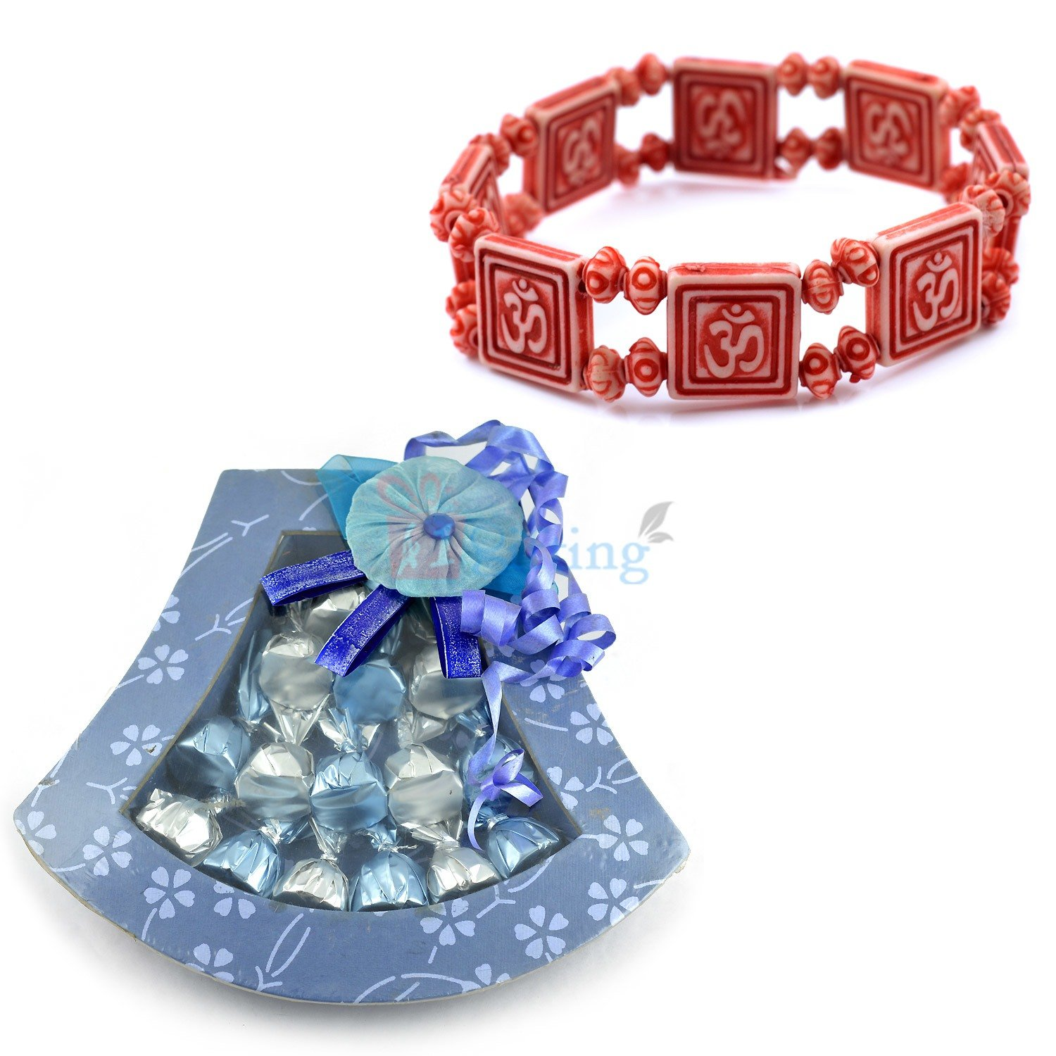 Om Bracelet with Chocolate Bouquet Gift Pack