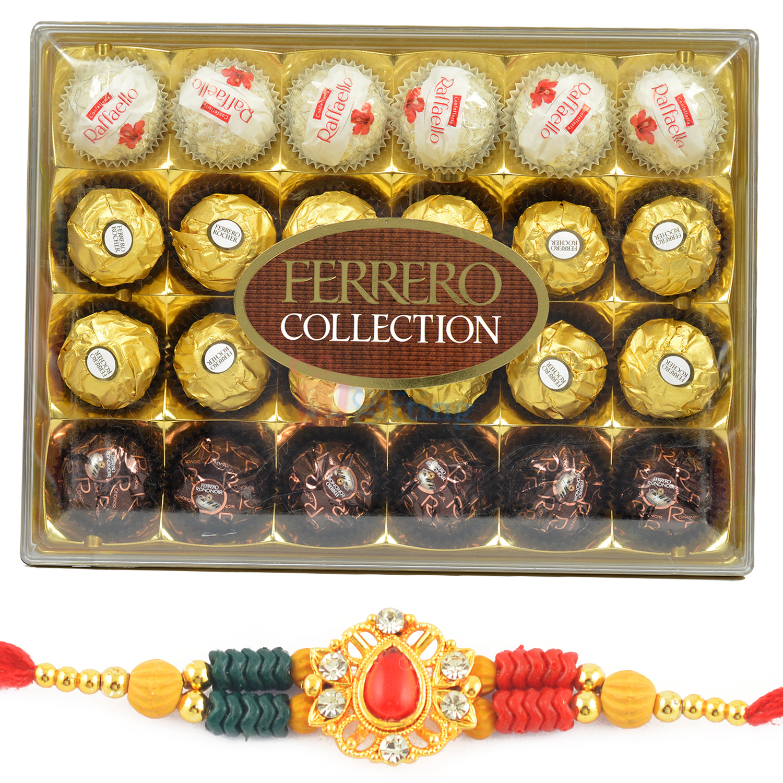 Ferrero Collection T-24 Chocolate Box with Beads Fancy Rakhi