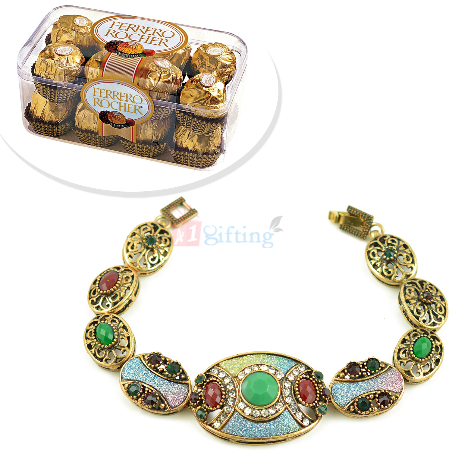 Awesome Antique Bracelet with T16 Ferrero Rocher