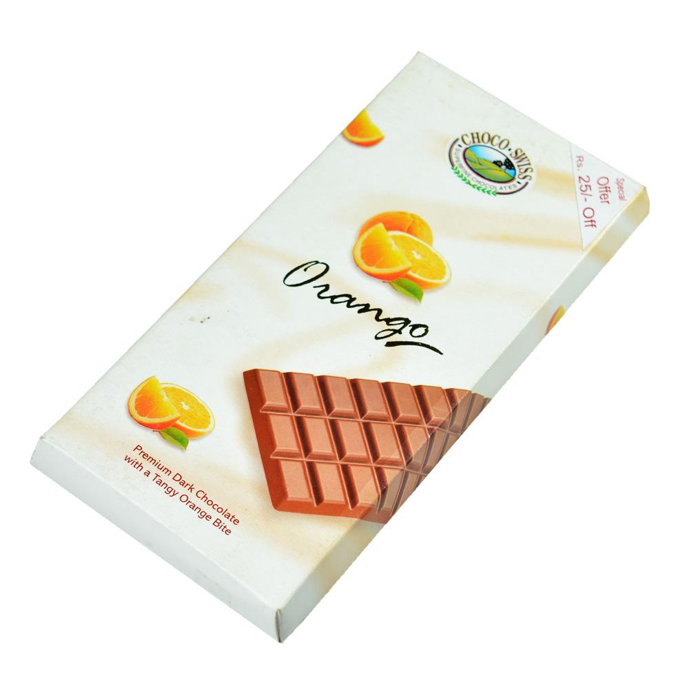 Orango Premium Dark Choco Swiss Chocolate with a Tangy Orange Bite