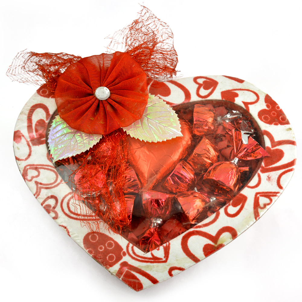 Heart Shape T 10 Designer Chocolate Gift Pack