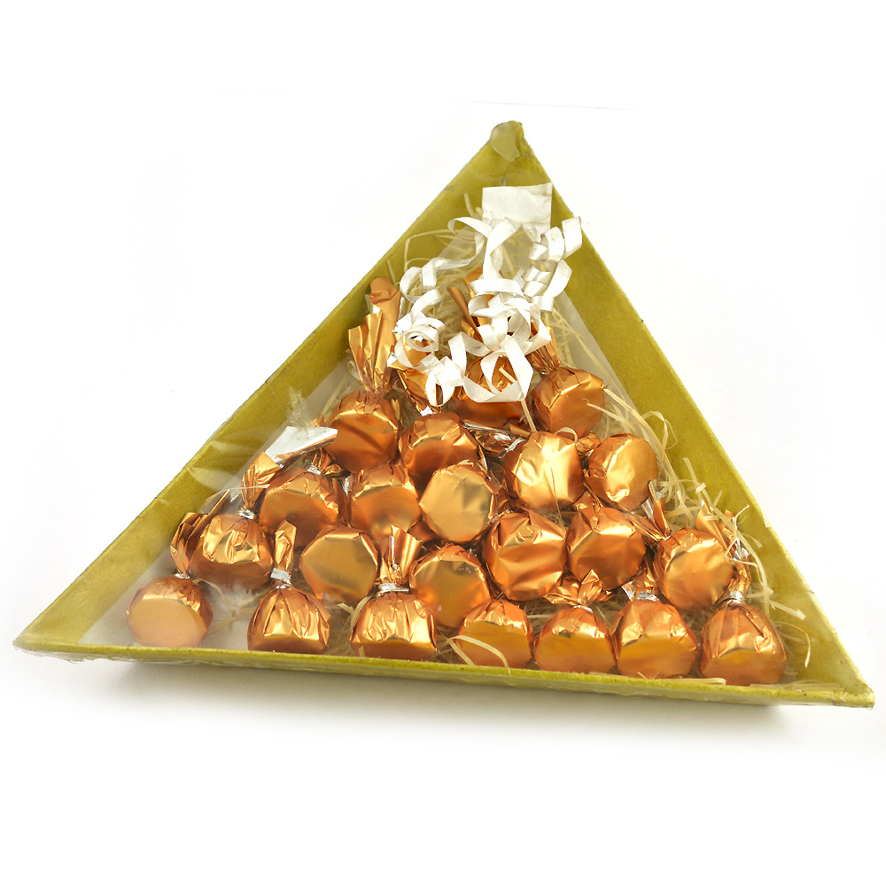 Triangle Shape Shimmering T 24 Chocolate Box