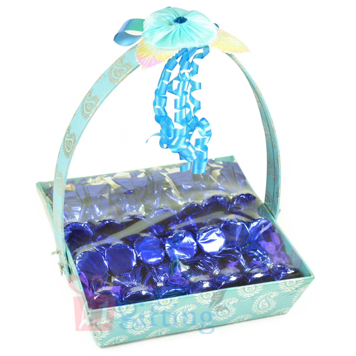 Basket Gift Wrap T 21 Chocolates