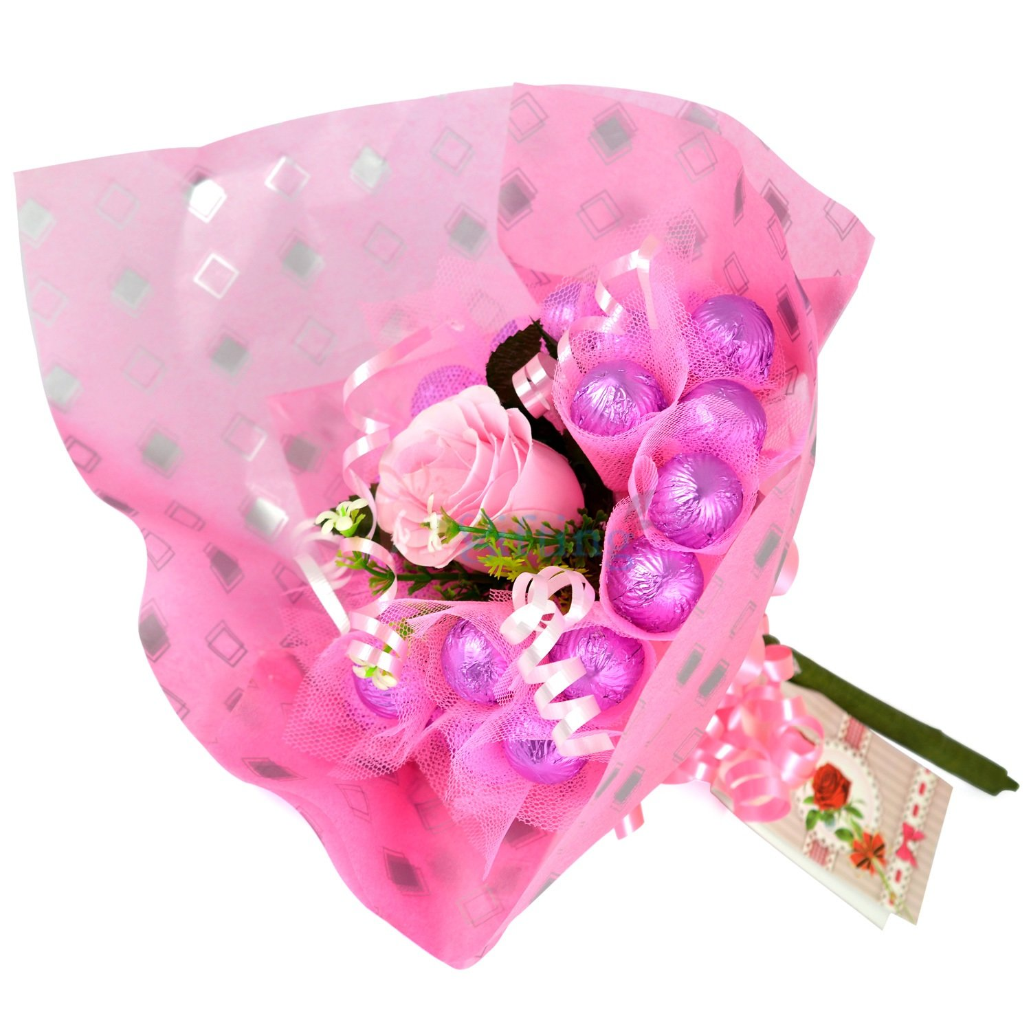 Bouquet Purple Yummy Chocolate for Gift