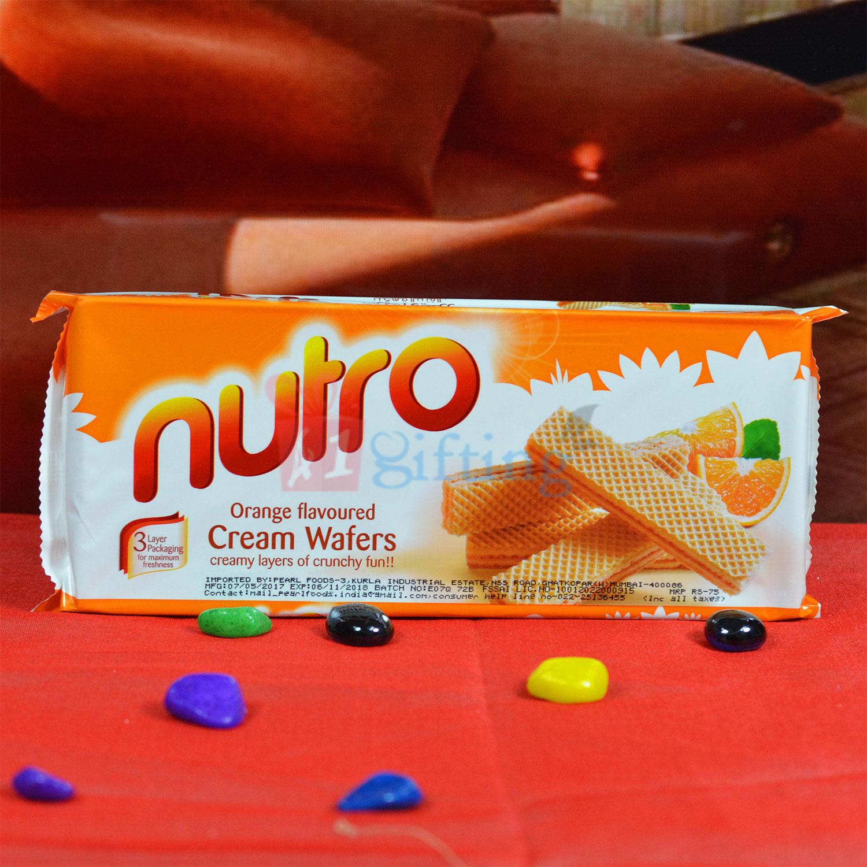 Nutro Cream Wafers Orange Flovoured