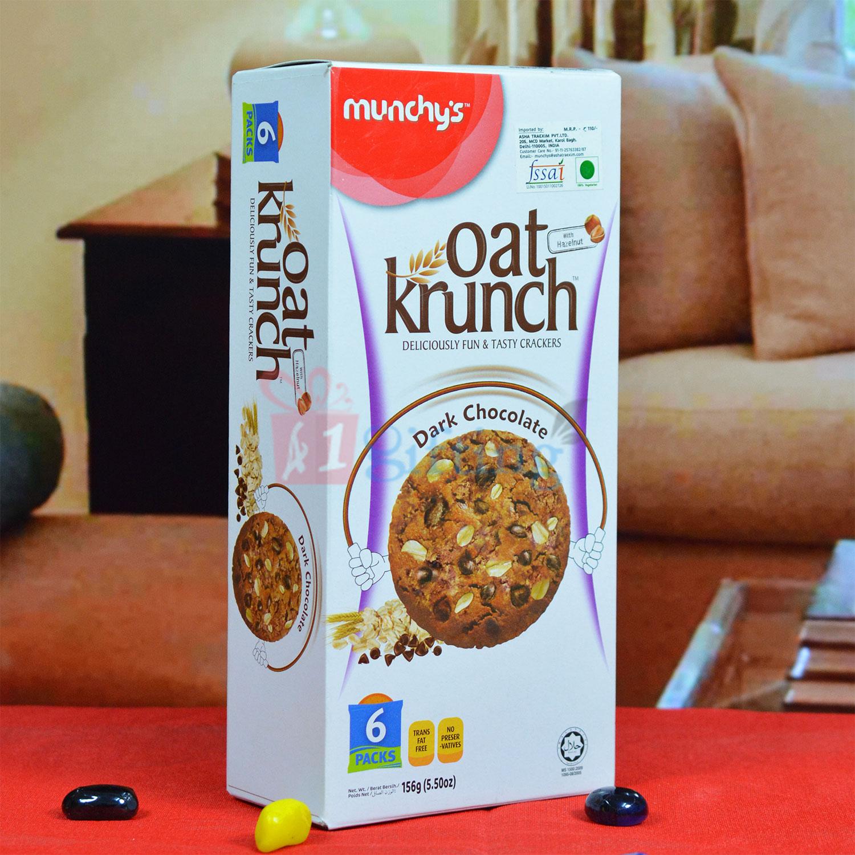 Oat Krunch Dark Chocolate Crackers