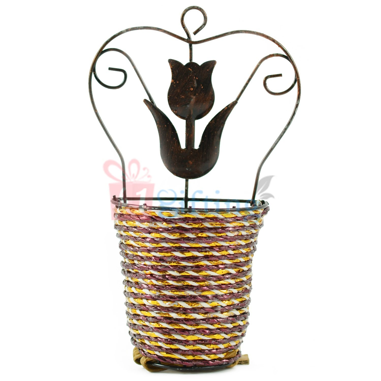 Wall Hanging Wired Flower Pot