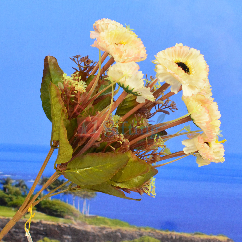 White Sunflower Artificial Decorative Flower Bouquet