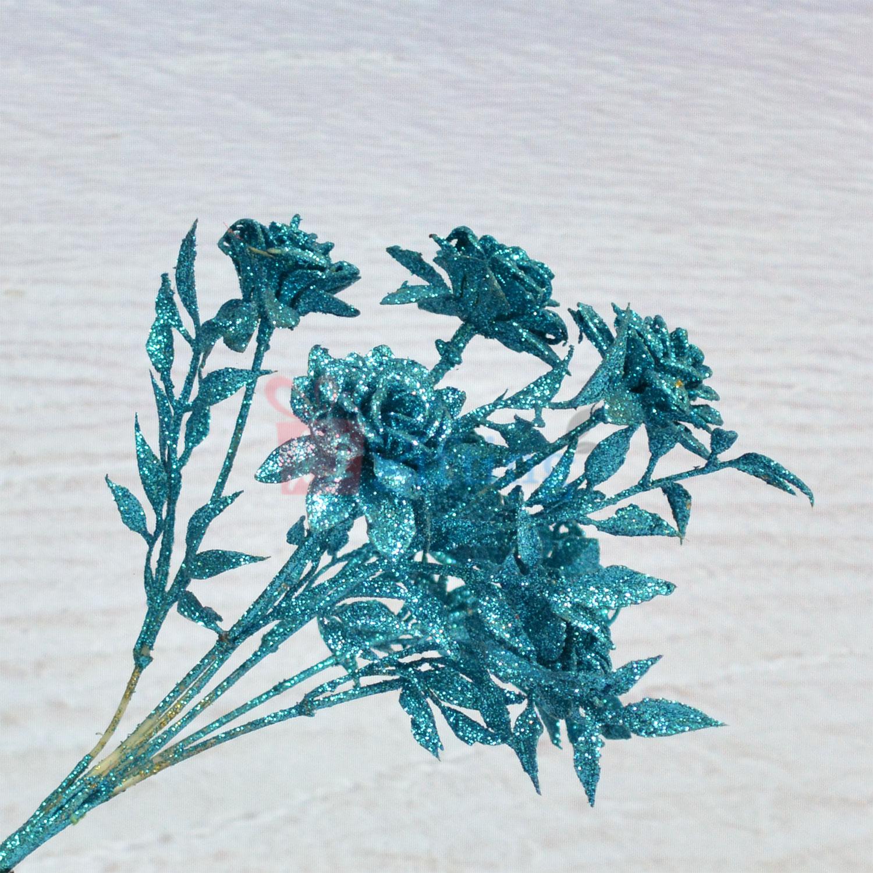 Sparkling Skyblue Decorative Artificial Flower Plant