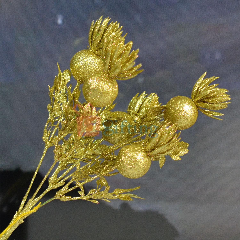 Golden Cherry Tree Decorative Artificial Flower Bouquet