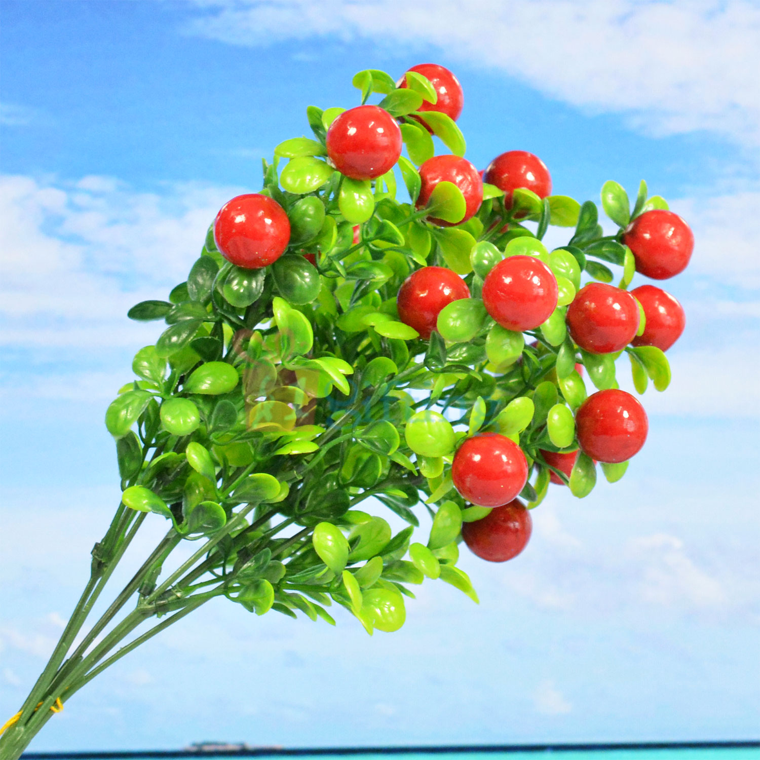 Red Cherry Decorative Artificial Plant