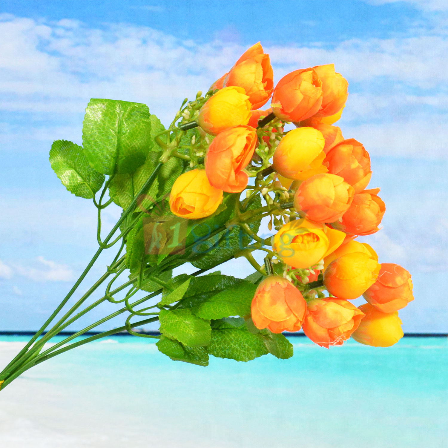 Yellow Buds Decorative Artificial Plant