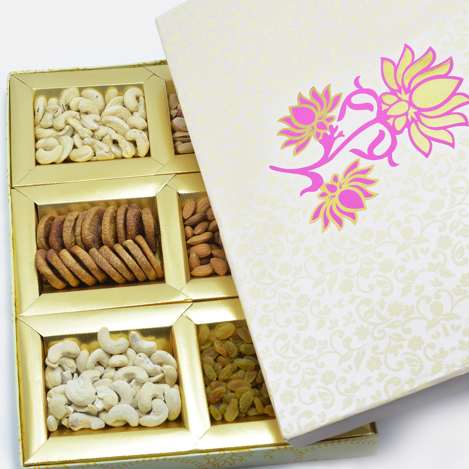 Lotus delicacy of 6 dry fruit gift box