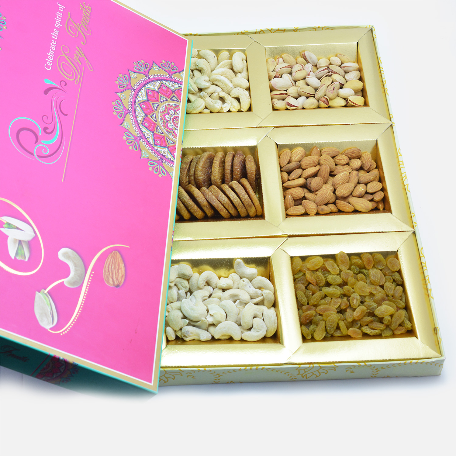 Celebrate the spirit of Dry fruits - 6 type dry nuts pack