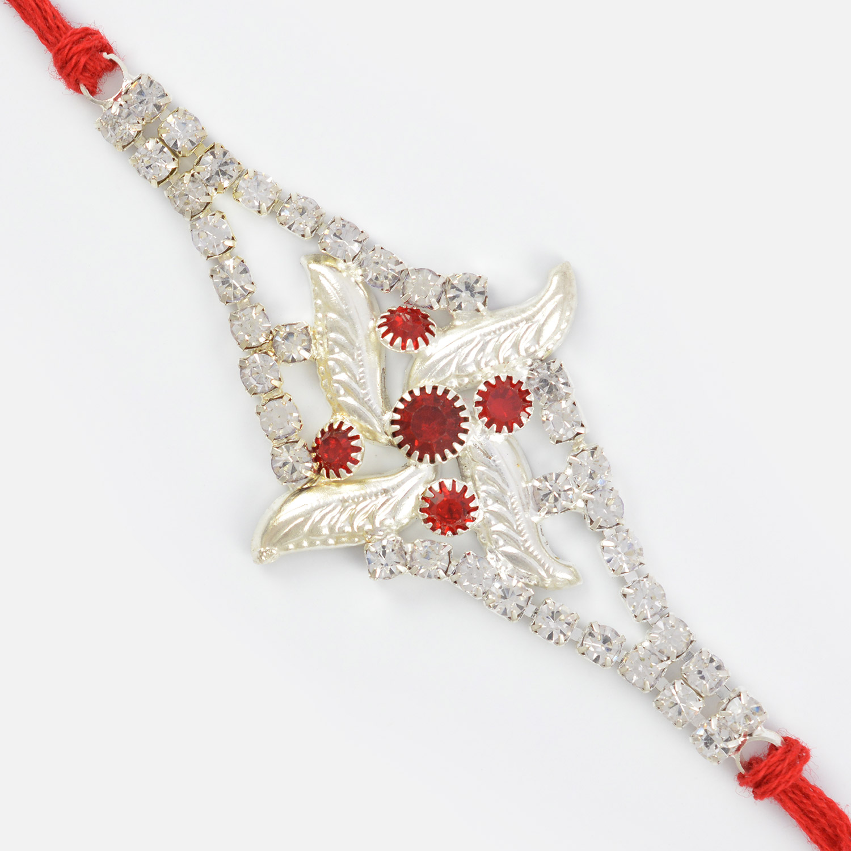 Excellent Meena and Diamond Designer Rakhi
