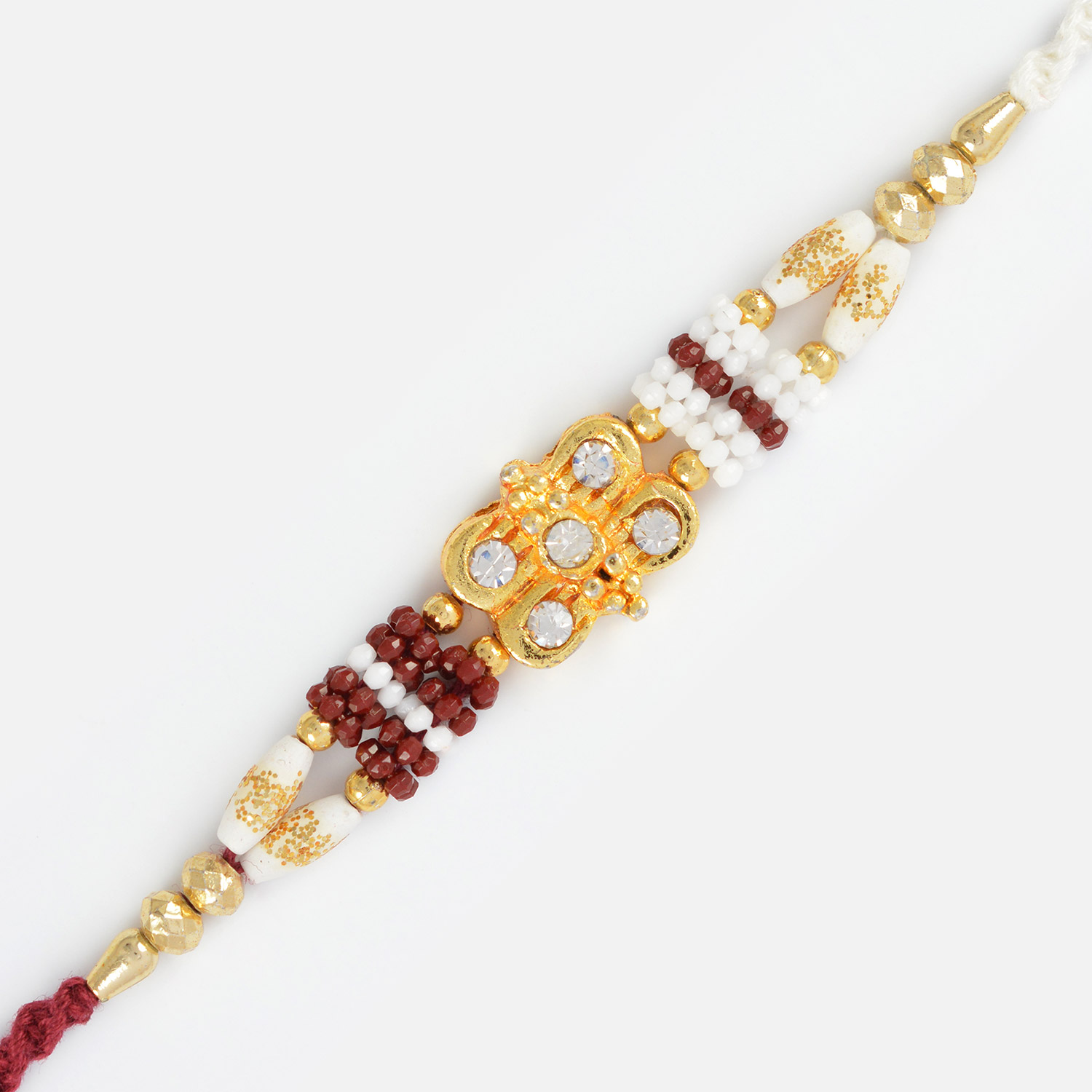 Simply Golden Diamond Awesome Designer Rakhi