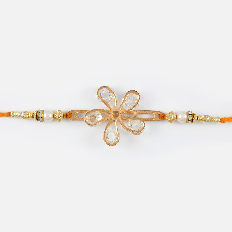Awesome Floral Jewel Designer Rakhi