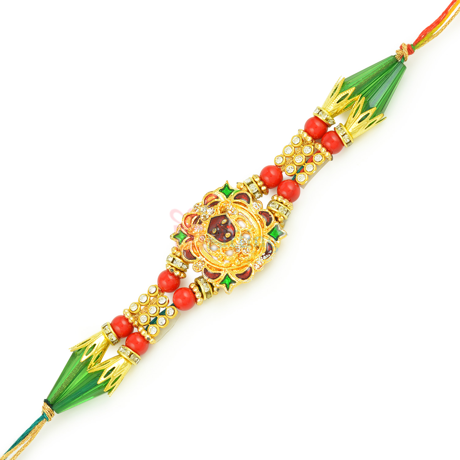 Holy Aura of Shyam Ji - Golden Diamond Desiger Rakhi