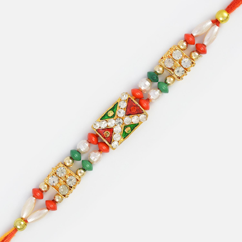 Jewels Fancy Designer Rakhi for Bhaiya- Exclusive Rakhi