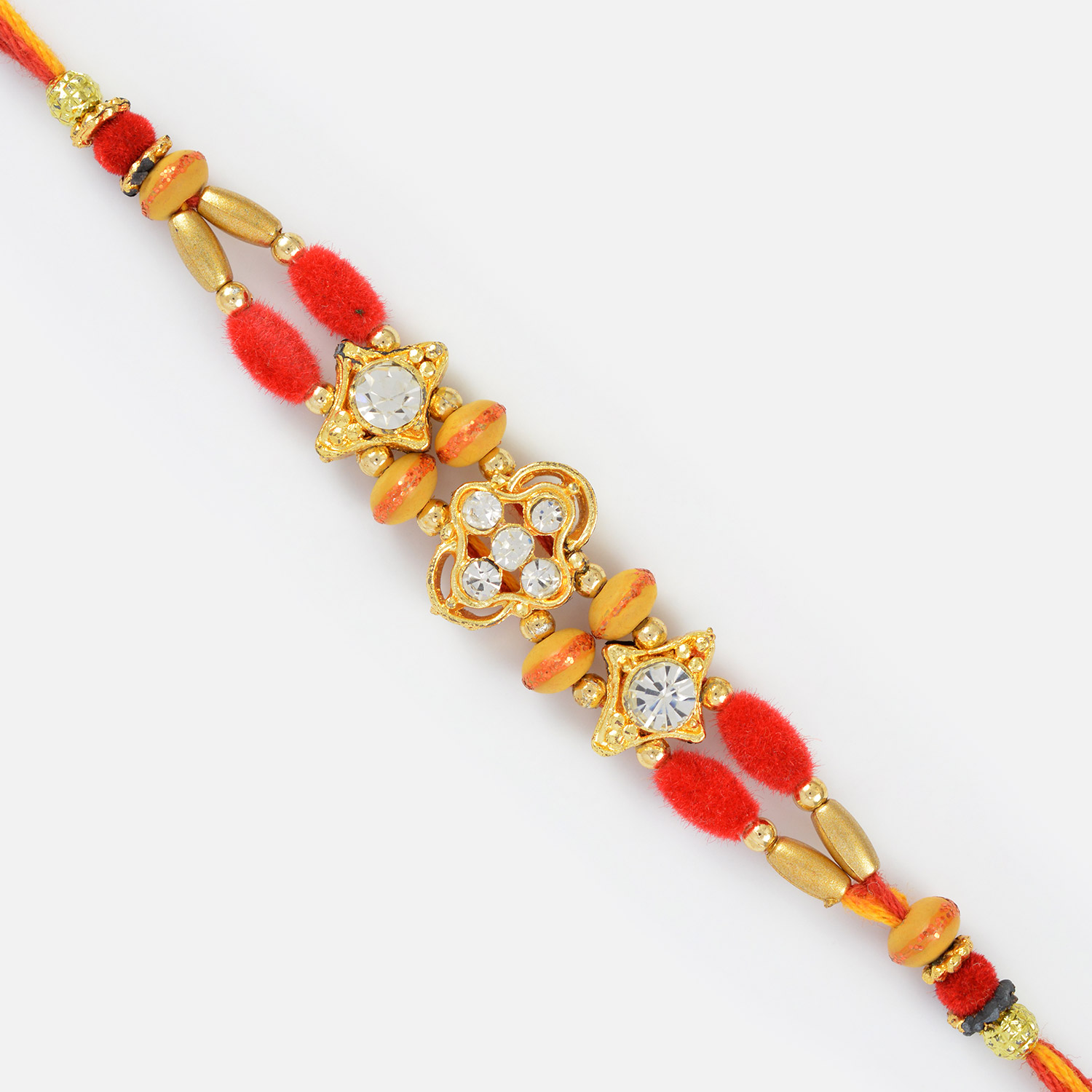 Golden and Diamond Passion- Fancy Mauli Rakhi