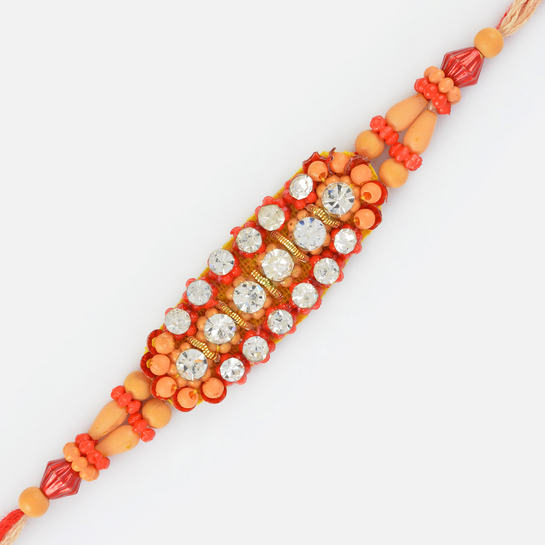 Beautiful Fancy Designer Diamond Rakhi