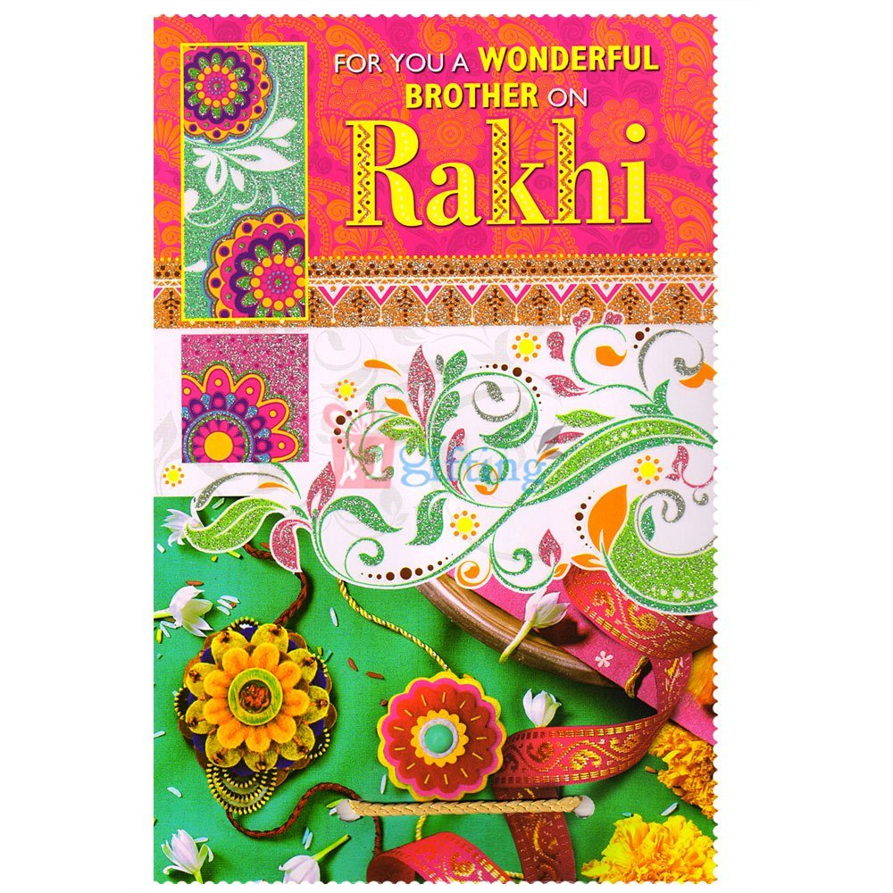 Wonderful Brother Rakhi Greeting Card