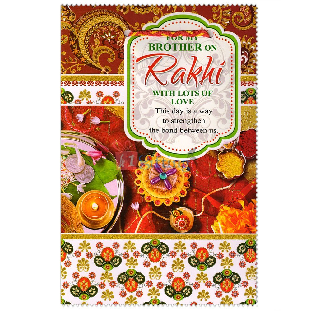 Rakhi Greeting Card for Brother on Rakhi with Lots of Love