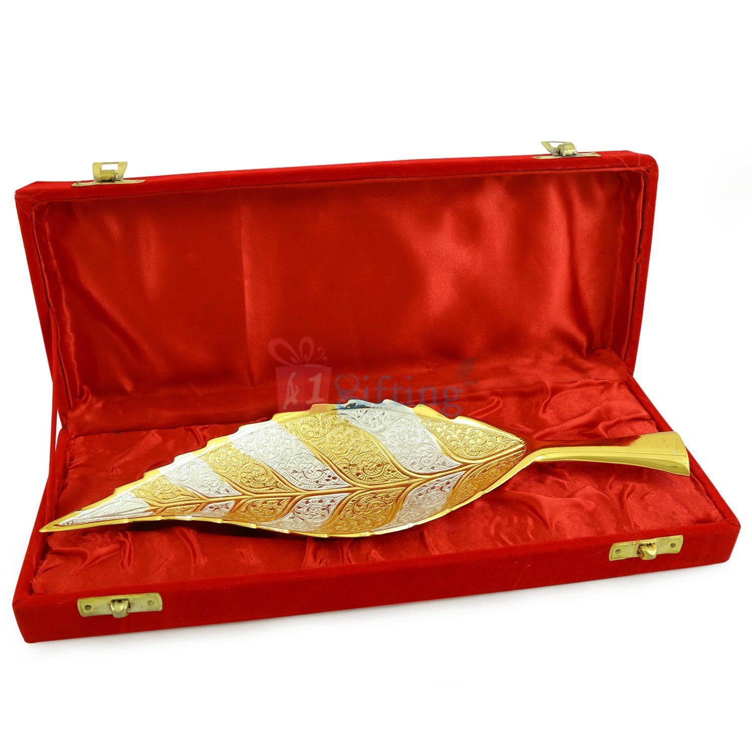 Brass Golden Silver Leaf for Gift to Royal Serving