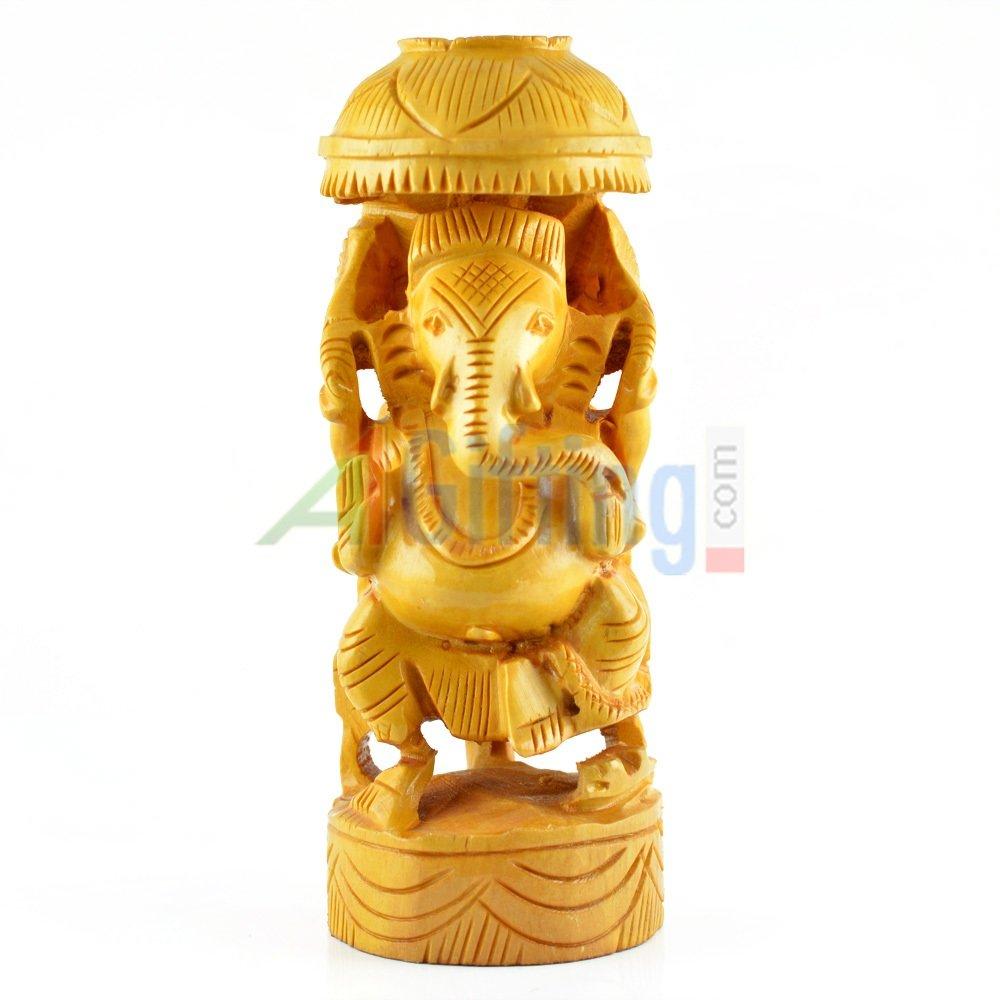 Designer Ganesha Statue in wooden handicraft