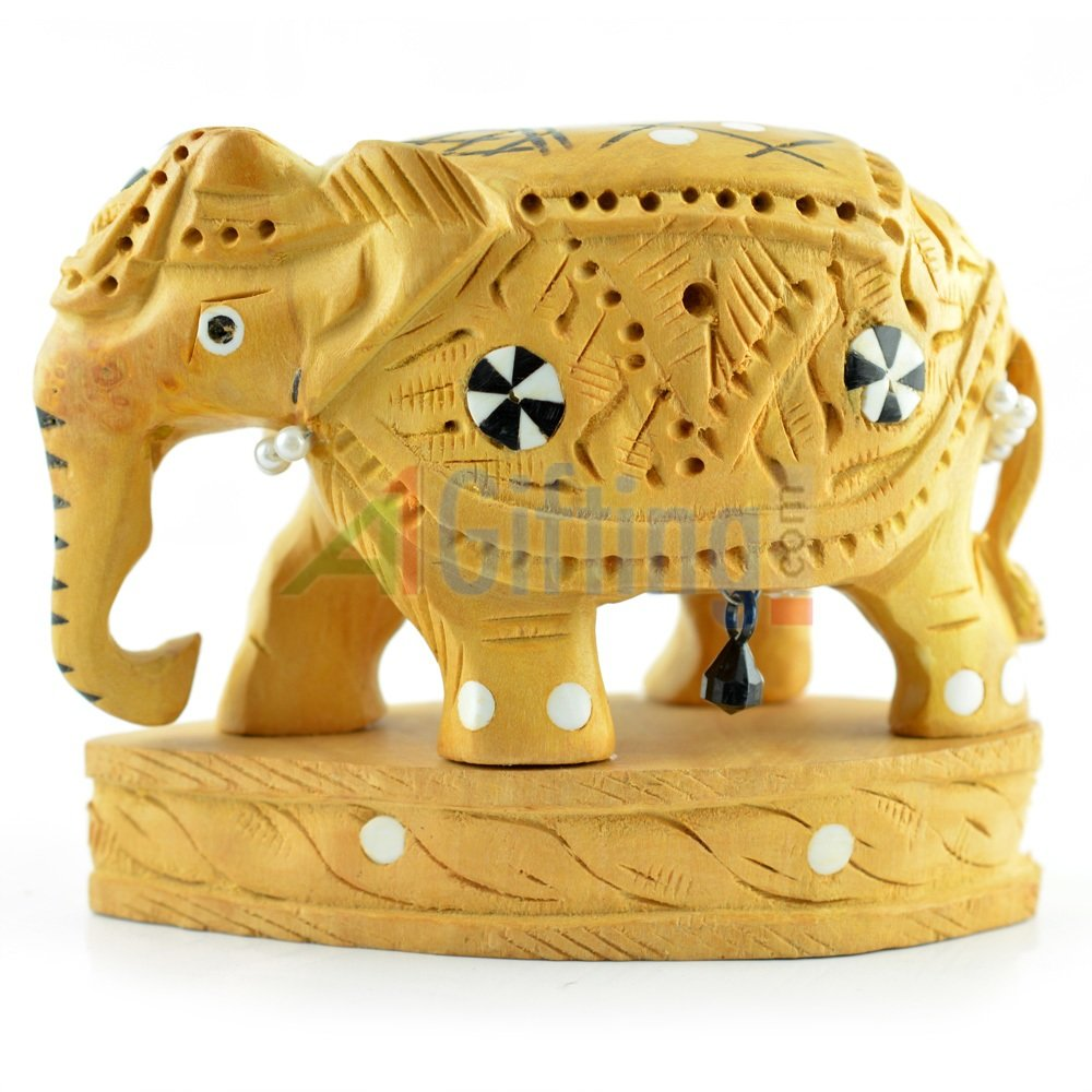 Artistic Handicraft Elephant Statue with Base