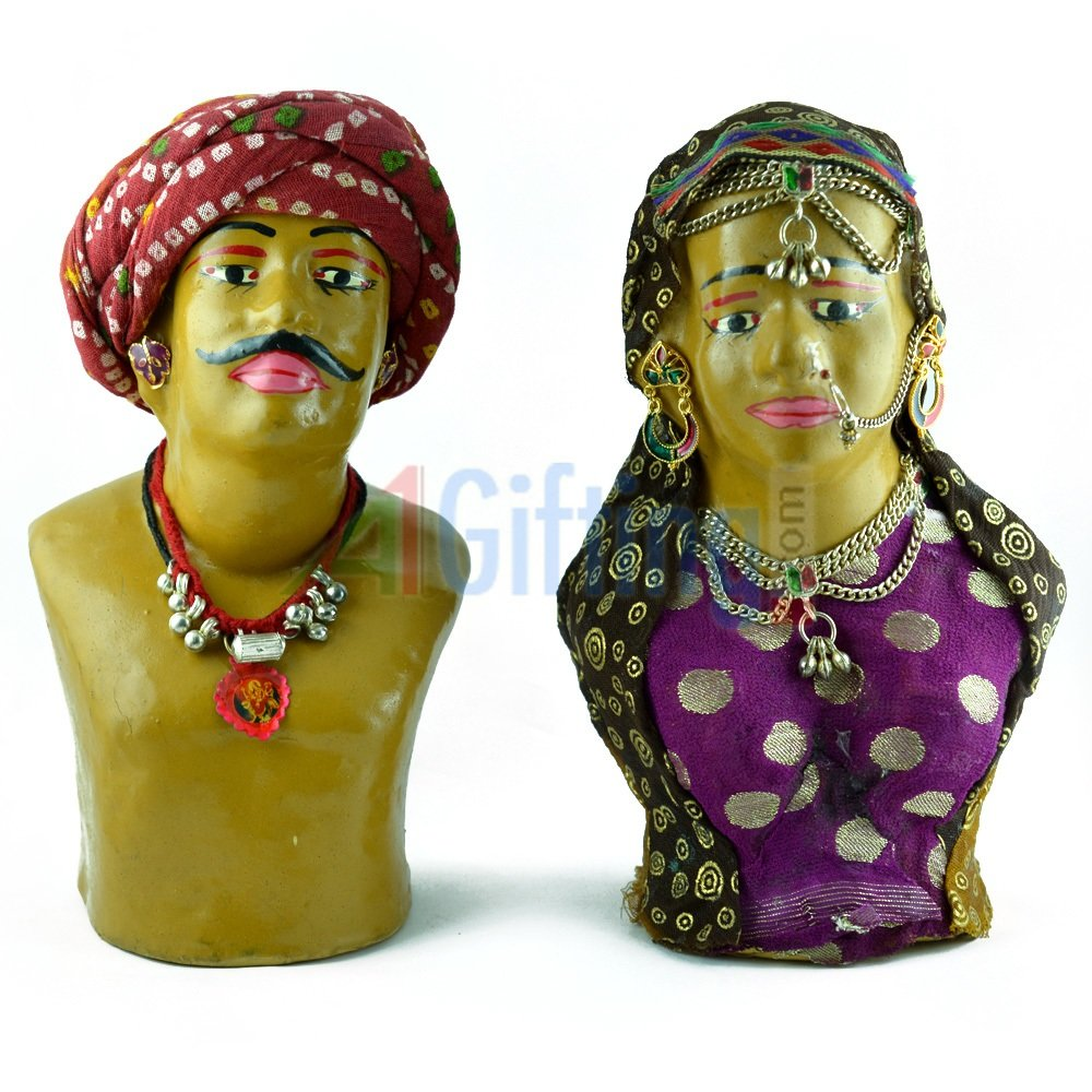 Rajasthani Traditional Dressed Statue-Kaka-Kaki