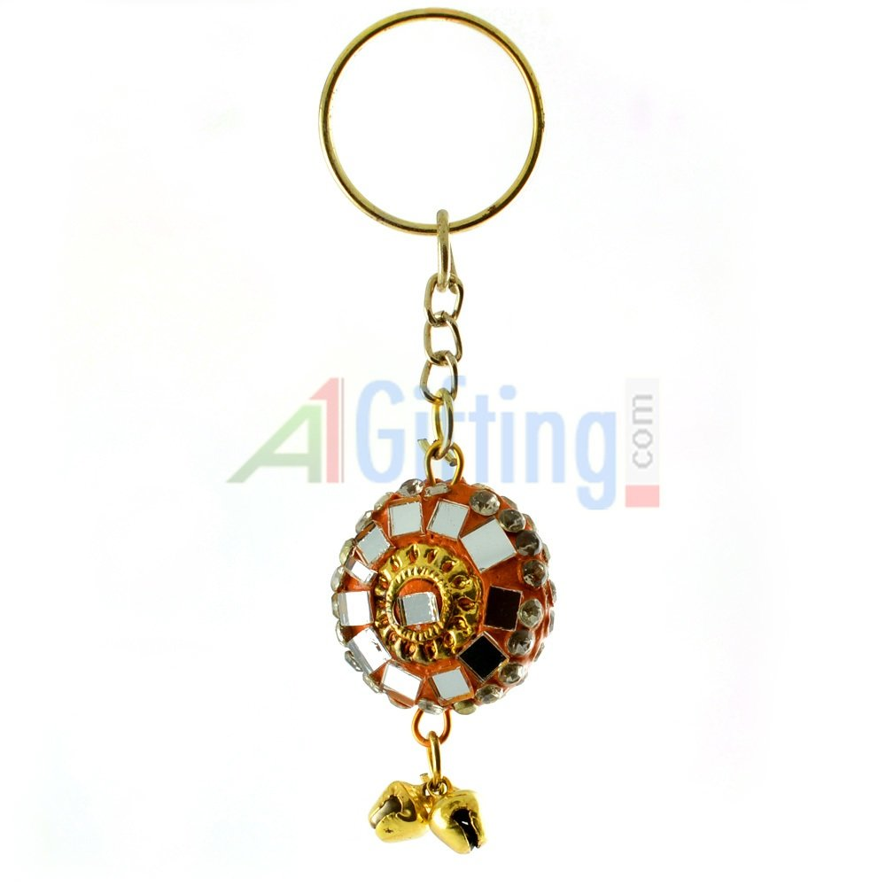 Handicraft Lacquer Glass Key Chain