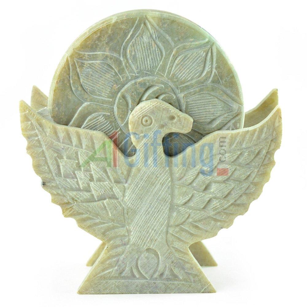 Amaging Swan Stone Tea Coaster with Handicraft work