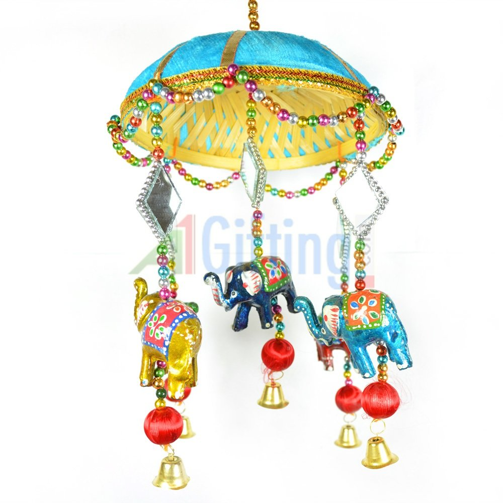 Handcrafted Jhoomer with Elephant Jhalar