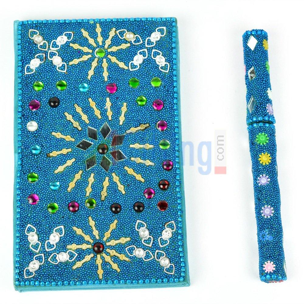 Handicraft Zardozi work Pen and Diary