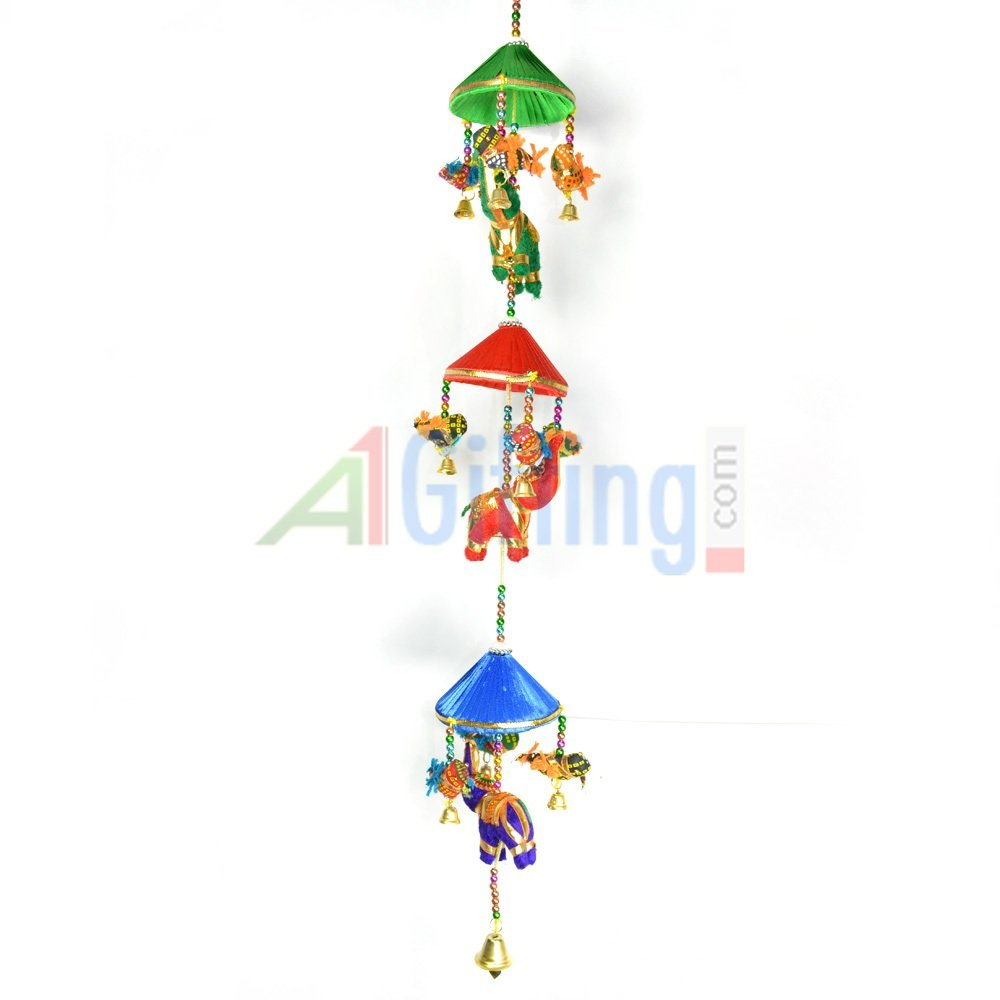 Beautiful Triple Cap Handcrafted Elephant Hanging