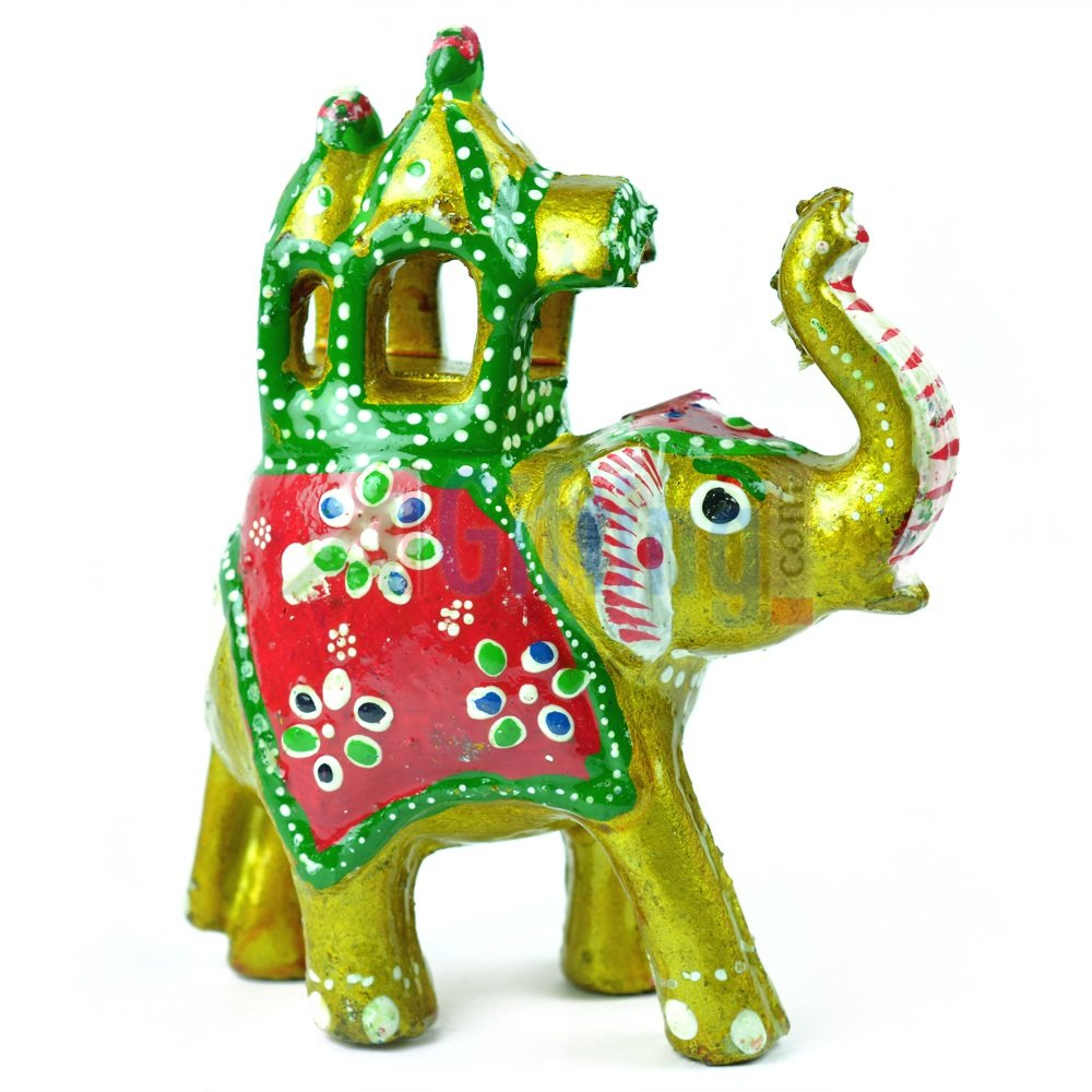 Colorful Handicraft Elephant with Palki-Ambabari