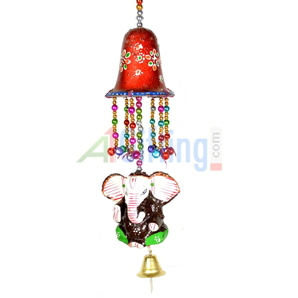 Handicraft Bell with Elephant Hanging